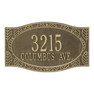 Frond Neohaus 2 Line Personalized Wall Plaque - Antique Brass Product Image