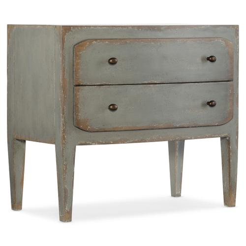 Ciao Bella Two-Drawer Nightstand- Speckled Gray