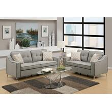 Alheri 2pc Loveseat & Sofa Set, Lt-grey