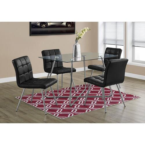 """DINING TABLE - 36""""X 48"""" / CHROME WITH 8MM TEMPERED GLASS"""