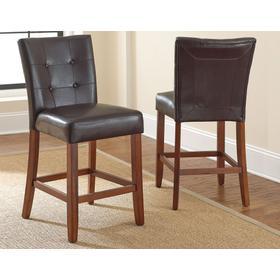 "Montibello Counter Chair [1/2"" memory foam], Brown"