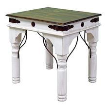 See Details - Weathered End Table W/conchos