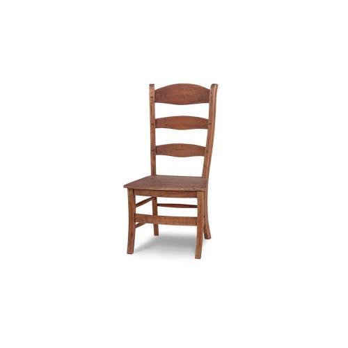 Peg & Dowel Ladder Back w/ Wooden Seat - DRW