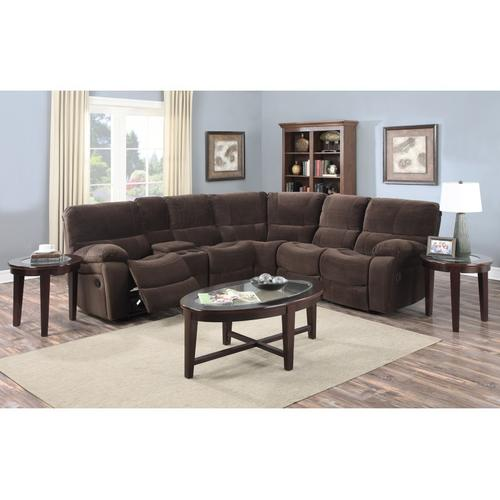 See Details - Ramsey Chocolate Recliner Sectional, M6052