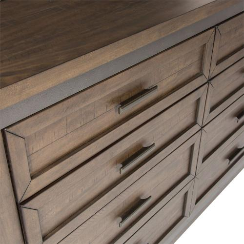 King Two Sided Storage Bed, Dresser & Mirror, Chest, NS