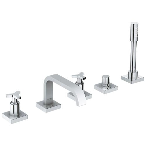 Allure 5-hole 2-handle Deck Mount Roman Tub Faucet With 1.75 Gpm Hand Shower
