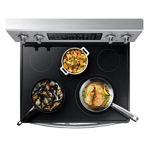5.9 cu. ft. Freestanding Electric Range with Flex Duo™ & Dual Door in Stainless Steel