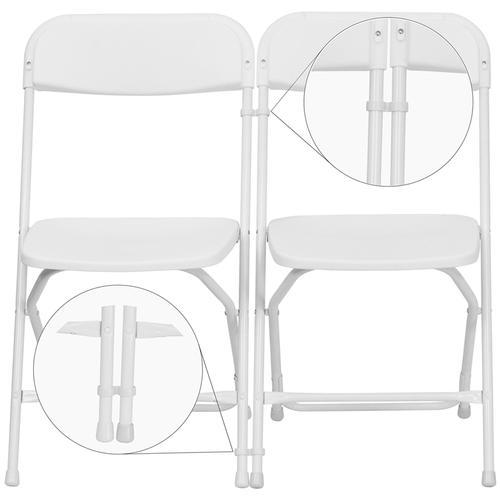 Flash Furniture - White Plastic Ganging Clips - Set of 2