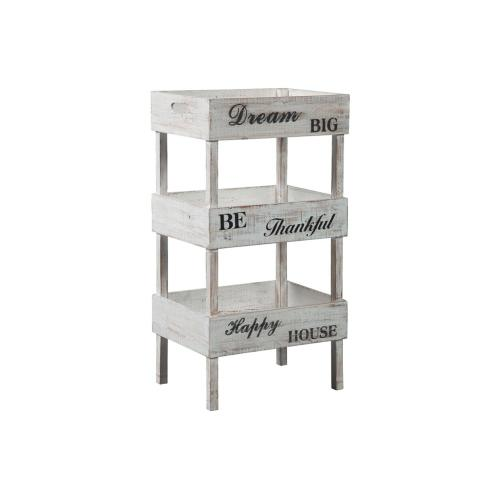 Console with Storage Shelves