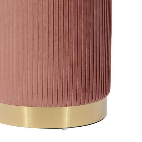 Tov Furniture - Zoe Blush Velvet Storage Ottoman