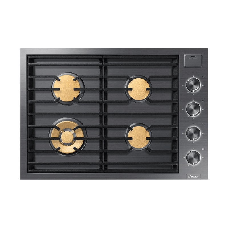 """30"""" Gas Cooktop, Graphite Stainless Steel, Natural Gas"""