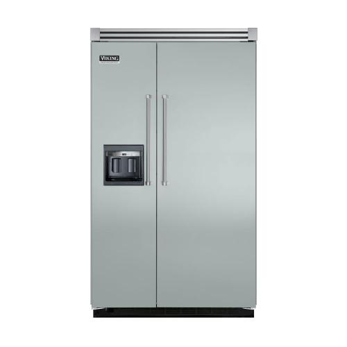 """Viking - Sea Glass 48"""" Side-by-Side Refrigerator/Freezer with Dispenser - VISB (Integrated Installation)"""