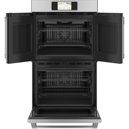 """Café ™ 30"""" Built-In French-Door Double Convection Wall Oven Stainless Steel"""