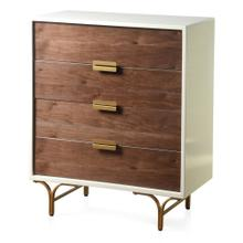 SANTA MONICA  33in w X 38in ht X 16in d  Four Drawer Chest