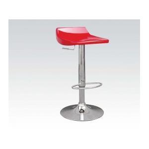 Red/chrome Adjustable Stool