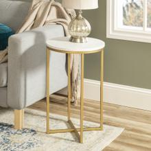 View Product - Alissa Side Tables - Gold and Marble