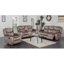 Logan Brown Reclining Sofa, Console Loveseat & Chair, M6627