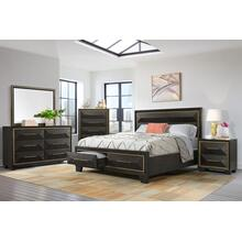 Clarke Bedroom - Queen Storage Bed, Dresser, Mirror, Chest, and Night Stand