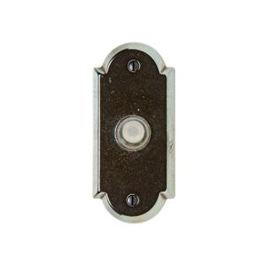 Arched Doorbell Button Silicon Bronze Brushed Product Image