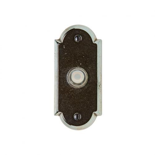 Rocky Mountain Hardware - Arched Doorbell Button White Bronze Dark