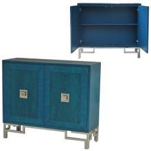 Cobalt Blue 2 Door Cabinet Brushed Nickel Hardware