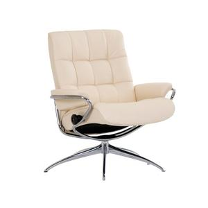 Stressless By Ekornes - Stressless London Low Back Swivel Recliner with High Star Base
