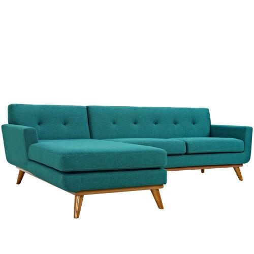 se Left-Facing Sectional Sofa in Teal