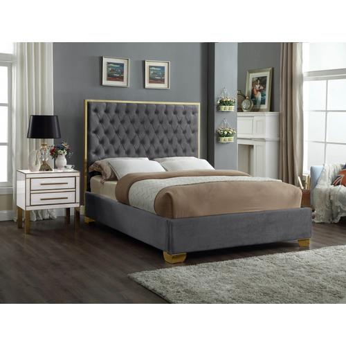 """Lana Velvet Bed - 81"""" W x 86"""" D x 58.5"""" H"""
