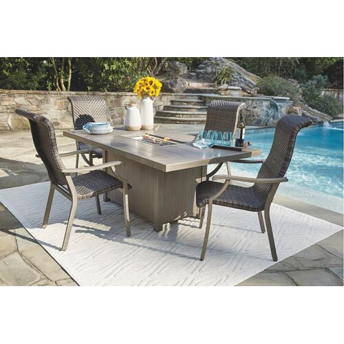 Outdoor Fire Pit Table and 4 Chairs