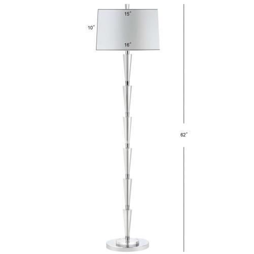 Stellan Floor Lamp - Chrome / Clear