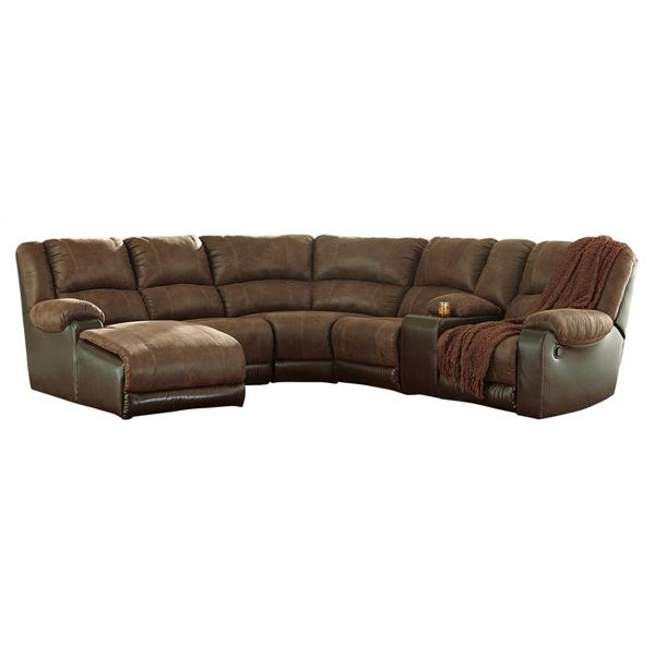 See Details - Nantahala 6-piece Reclining Sectional With Chaise