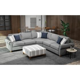 Sasha 3 Pc. Sectional Sectional Gray
