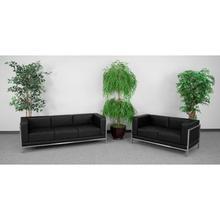 See Details - HERCULES Imagination Series Black LeatherSoft Sofa & Loveseat Set