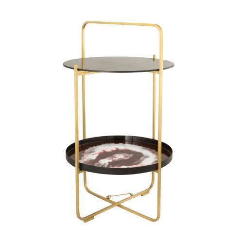 Product Image - Enamel Plum/White Side Table