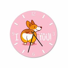 Dog I Love You Round Acrylic Wall Clock
