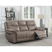 Isabella Manual Reclining Sofa, Sand Product Image