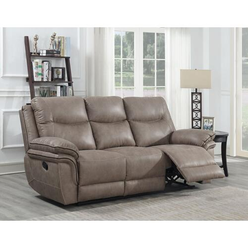 Isabella Sand 3 Piece Manual Motion Set (Sofa, Loveseat & Chair)