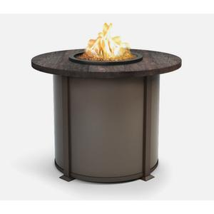 """42"""" Round Balcony Fire Table Ht: 34.5"""" Valero Aluminum Base (Indicate Top, Frame, & Side Panel Color)"""