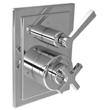 Cross handle pressure balance with lever 3-way diverter trim only, to suit M1-4102 rough