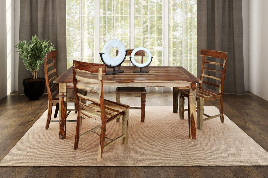 Porter International DesignsTahoe Dining Table With Extensions, Chairs & Bench, Sba-9039n