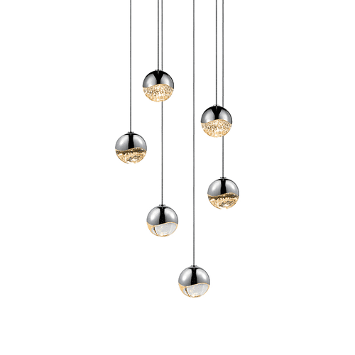 Grapes® 6-Light Round Small LED Pendant