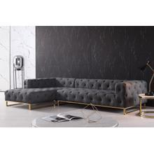 Divani Casa Willa Modern Grey Fabric Sectional Sofa