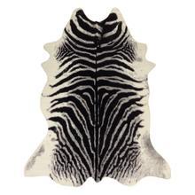Modern Rustic Faux Fur Art Hide Zebra by Rug Factory Plus - 5' x 7' / Zebra