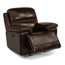 See Details - Leather Power Rocking Recliner with Power Headrest