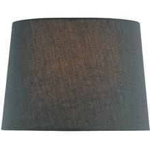 "Black Fabric Shade - 14""tx16""bx12""sl"