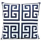 "Outdoor Pillows As047 Navy 20"" X 20"" Throw Pillow Product Image"
