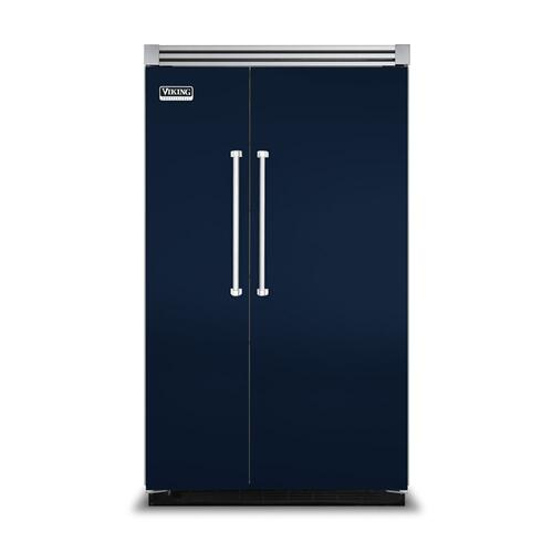 "Viking - Viking Blue 48"" Side-by-Side Refrigerator/Freezer - VISB (Integrated Installation)"