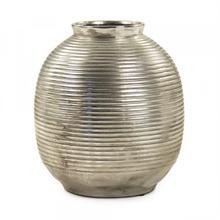 See Details - Distressed Metallic Spherical Vase