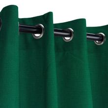 See Details - Sunbrella Canvas Forest Green Outdoor Curtain with Nickel Plated Grommets