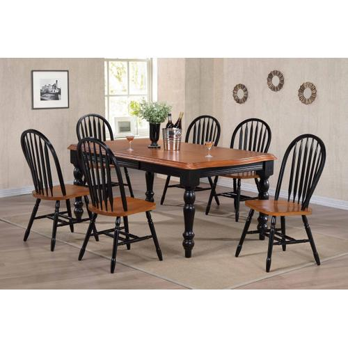 """Arrowback Dining Chair - Antique Black and Cherry (38"""")"""